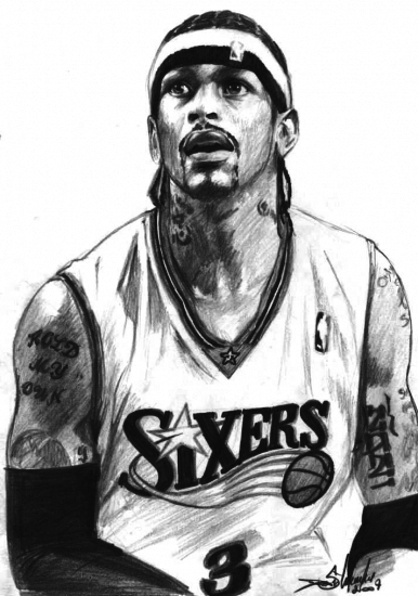 coloring pages of allen iverson-#24